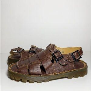 Dr. Marten's Children's Brown Leather Sandals